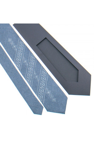 Вышитый галстук «Семен»