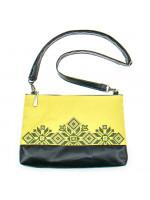 Вышитая сумка желтого цвета «Верба»