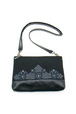 Вишита сумка чорного кольору «Верба»