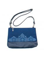 Вишита сумка синього кольору «Верба»