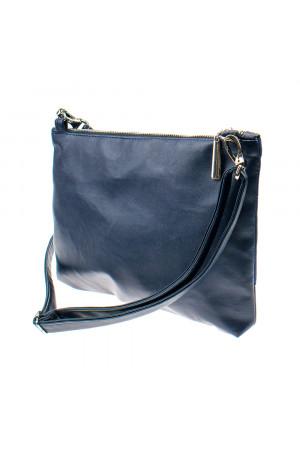 Вышитая сумка синего цвета «Верба»