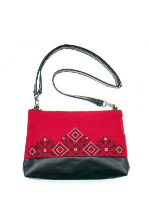 Вишита сумка червоного кольору «Верба»
