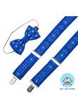 Комплект для мальчика: галстук-бабочка и подтяжки ярко-синего цвета
