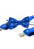 Комплект для хлопчика: краватка-метелик та підтяжки яскраво-синього кольору