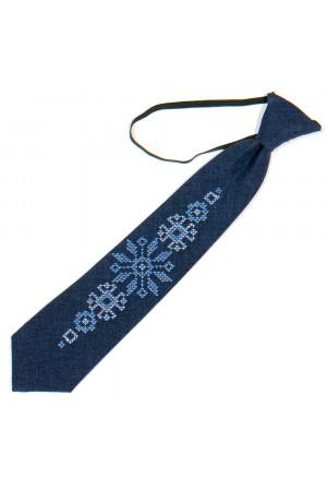 Дитяча краватка «Адріян» темно-синього кольору з вишивкою