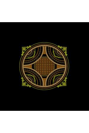 Вышитая футболка «Гомра» черного цвета