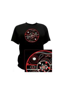 Вишита футболка «Флояра» чорного кольору