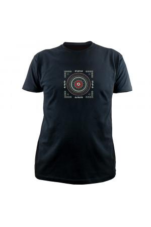 Вишита футболка «Карпатія» чорного кольору