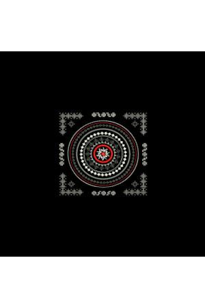 Вышитая футболка «Карпатия» черного цвета