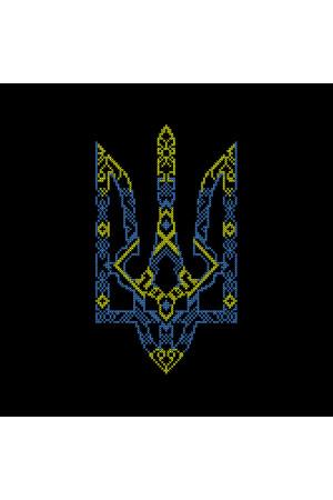 Вышитая футболка «Тризуб» черного цвета