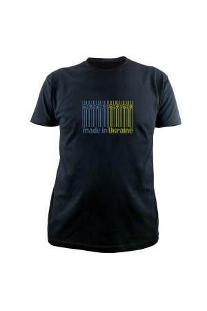 Вишита футболка «Made in Ukraine» чорного кольору