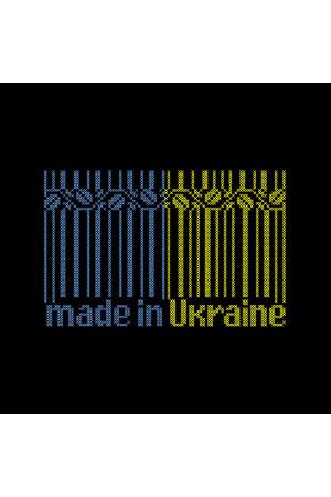 Вышитая футболка «Made in Ukraine» черного цвета