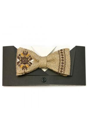 Краватка-метелик з мішковини