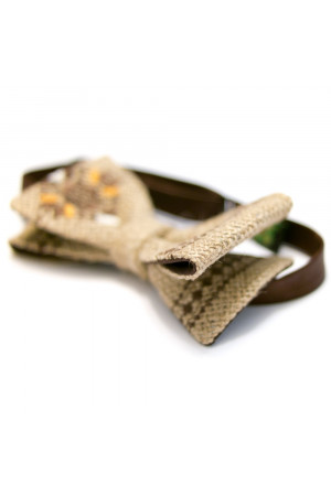 Галстук-бабочка из мешковины