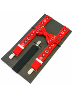 Комплект для мальчика: галстук-бабочка и подтяжки красного цвета