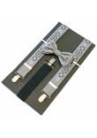 Комплект для хлопчика: краватка-метелик та підтяжки сірого кольору