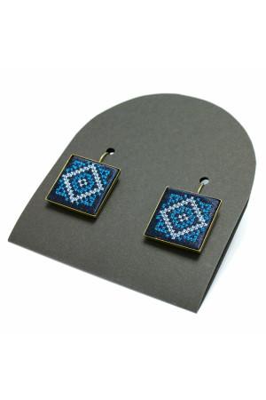 Серьги «Нева» с вышивкой