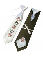 Дитяча краватка «Левко» з вишивкою