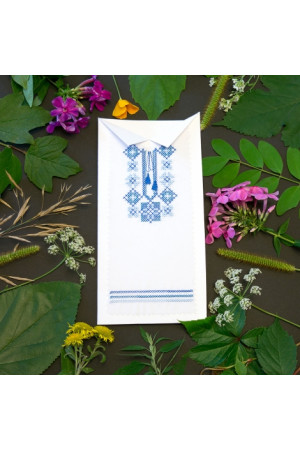 Открытка «Голубая вышиванка»