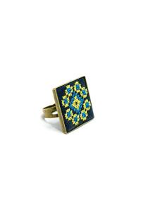 Кольцо «Росава» с вышивкой
