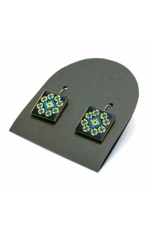 Сережки «Росава» з вишивкою