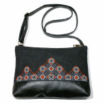Вышитая сумка черного цвета «Диброва»