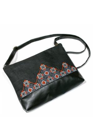 Вишита сумка чорного кольору «Діброва»