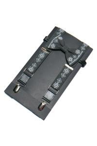 Мужской комплект: галстук-бабочка и подтяжки темно-серого цвета