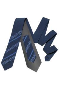 Вишита краватка «Макар» темно-синього кольору
