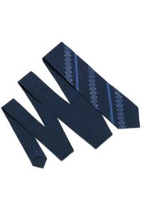 Вышитый галстук «Макар» темно-синего цвета