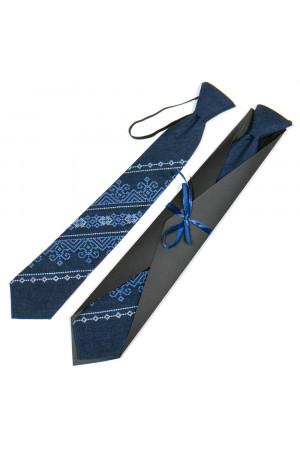Подростковый галстук «Никита» темно-синего цвета