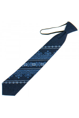 Підліткова краватка «Микита» темно-синього кольору