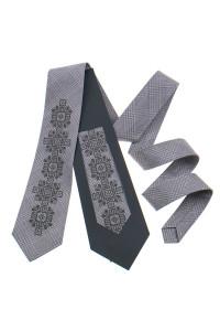 Вышитый галстук «Скальд» бежевого цвета