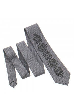 Вишита краватка «Скальд» бежевого кольору