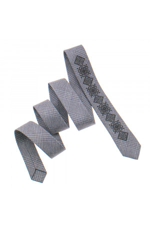 Вузька краватка «Григір» бежевого кольору