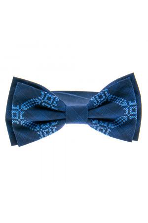 Вишита краватка-метелик «Вихор» синього кольору