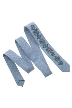 Вузька краватка «Клим» світло-сірого кольору