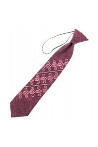 Дитяча краватка «Збишек» бордового кольору