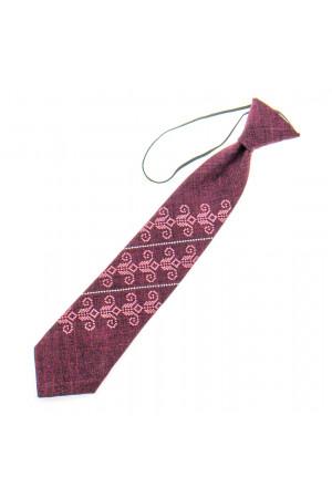 Детский галстук «Збышек» бордового цвета