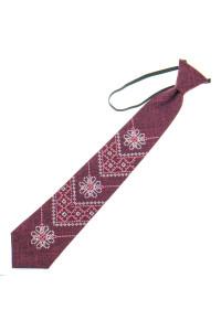 Підліткова краватка «Златодан» бордового кольору