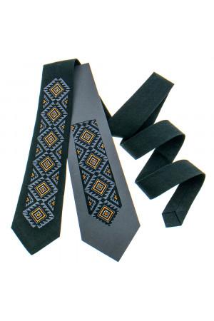 Вишита краватка «Скіф» чорного кольору