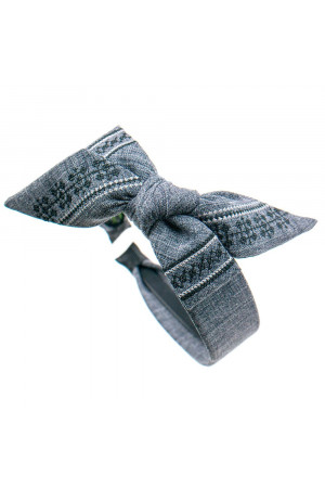 Вишитий обруч «Орестина» сірого кольору