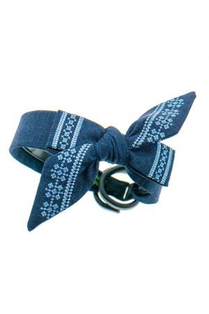 Вышитый обруч «Орестина» синего цвета
