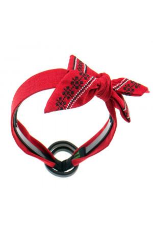 Вышитый обруч «Орестина» красного цвета