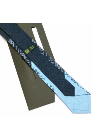 Узкий вышитый галстук «Снежко»