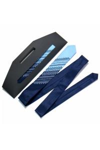 Краватка з вишивкою «Синьо-блакитний дует»