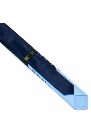 Галстук с вышивкой «Сине-голубой дуэт»