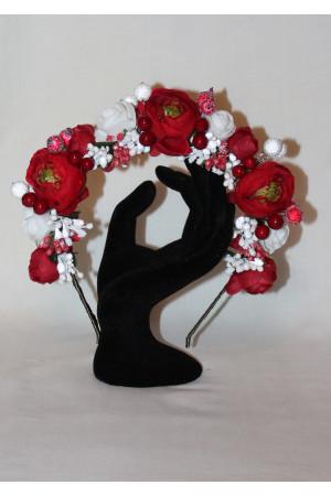 Ободок «Шиповник и розы»