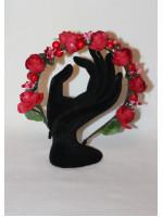 Ободок «Розы» красного цвета