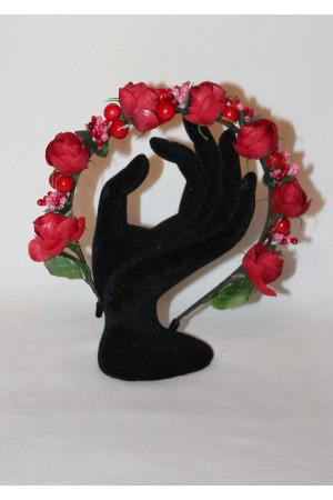 Обідок «Троянди» червоного кольору